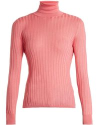 Gucci - Roll-neck Ribbed-knit Jumper - Lyst
