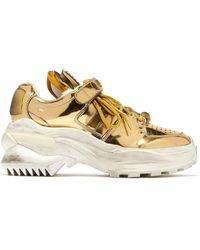 Maison Margiela - Retro Fit Deconstructed Low Top Leather Trainers - Lyst