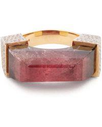 Jade Jagger - Diamond, Tourmaline & Yellow Gold Ring - Lyst