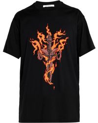 Givenchy - Oversized Printed Cotton-jersey T-shirt - Lyst