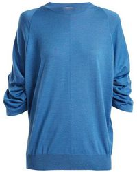 Stella McCartney - Ruched-sleeve Wool-blend Sweater - Lyst