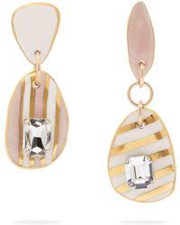 Sonia Boyajian - Ceramic And Rhinestone Stripe Earrings - Lyst