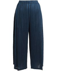 Pleats Please Issey Miyake - Sara Sara Pleated Cropped Trousers - Lyst