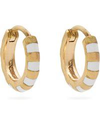 Marc Alary - Enamel & Yellow Gold Earrings - Lyst