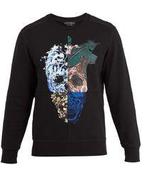 Alexander McQueen | Nature Skull-print Cotton-jersey Sweatshirt | Lyst