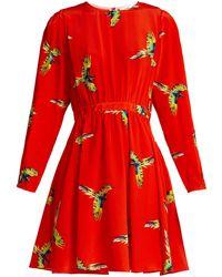 Diane von Furstenberg - Aurora Phoenix-print Silk Mini Dress - Lyst