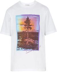 Acne Studios - Graphic Print Cotton T Shirt - Lyst