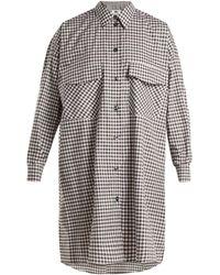 MM6 by Maison Martin Margiela - Oversized Checked Cotton Poplin Shirtdress - Lyst