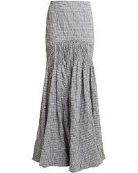Jonathan Simkhai | Smocked Gingham Maxi Skirt | Lyst