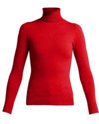 JoosTricot - Peachskin Roll-neck Cotton-blend Jumper - Lyst