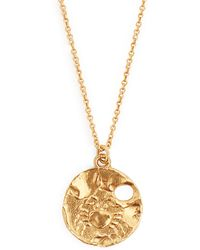 Alighieri - Cancer Gold Plated Necklace - Lyst