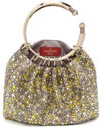 Valentino - Bebop Loop Crystal-embellished Clutch - Lyst
