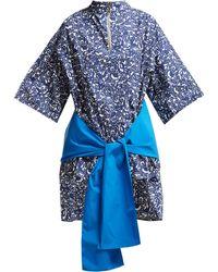 Marni - Lylee Floral Print Cotton Poplin Tunic Top - Lyst