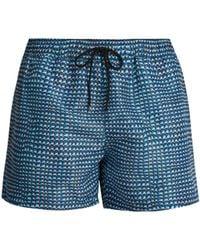 Paul Smith - Geometric Print Swim Shorts - Lyst