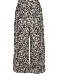Rebecca Taylor - Liane High-rise Wide-leg Floral-jacquard Trousers - Lyst