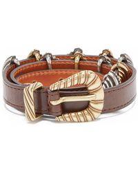 Etro - Buckle-embellished Leather Belt - Lyst