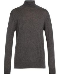 Raey - - Roll Neck Fine Cashmere Jumper - Mens - Grey - Lyst