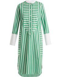 Maison Rabih Kayrouz | Striped Cotton-poplin Shirtdress | Lyst