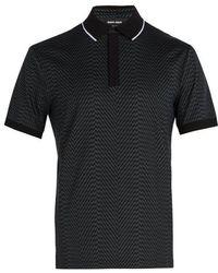 Giorgio Armani - Zigzag-print Polo Shirt - Lyst
