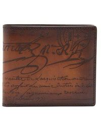 Berluti - Makore Bi-fold Leather Wallet - Lyst