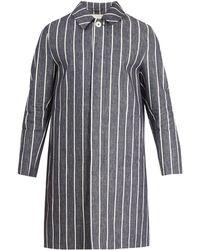 Mackintosh - Point-collar Linen Overcoat - Lyst
