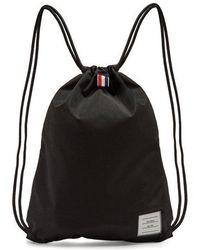Thom Browne - Drawstring Nylon Backpack - Lyst