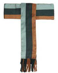 Etro - Striped Tassel-end Silk Belt - Lyst