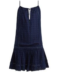 Melissa Odabash - Chelsea Broderie Anglaise Cotton Dress - Lyst