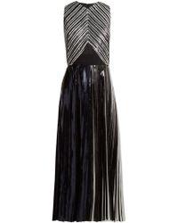 Proenza Schouler - Pleated Foil Cloqué Dress - Lyst