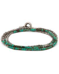 M. Cohen - Horizon Bead-embellished Silver Bracelet - Lyst