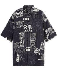 Balenciaga - Abstract-print Padded Shirt - Lyst