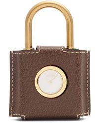 Gucci - Constance Web-striped Plexiglas Padlock Watch - Lyst