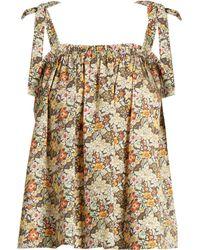 Loup Charmant - Turen Floral Print Cotton Top - Lyst