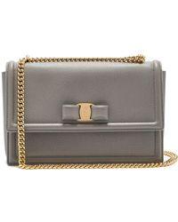 Ferragamo - Ginny Medium Leather Shoulder Bag - Lyst