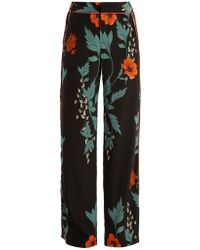 Johanna Ortiz - Floral Print High Rise Silk Trousers - Lyst