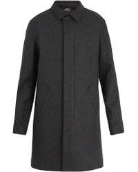 A.P.C. - Mac New England Wool-blend Coat - Lyst