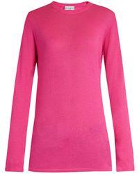 Raey - Long Line Fine Knit Cashmere Sweater - Lyst