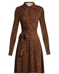 Diane von Furstenberg - Didi Leopard-print Silk Wrap Dress - Lyst