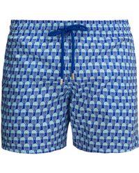 7e5cd8bbee Vilebrequin Crab Print Packable Mahina Swim Shorts in Blue for Men ...