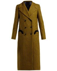Blazé Milano - Fair & Square Checked Wool Coat - Lyst