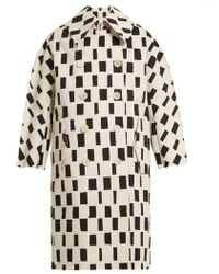Junya Watanabe - Rectangle-print Point-collar Cotton Coat - Lyst