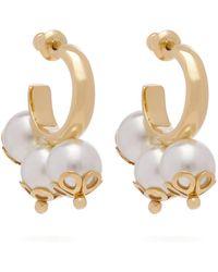 Simone Rocha - Ornate Triple Pearl Hoop Earrings - Lyst
