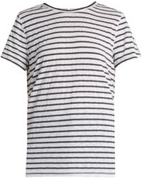 Todd Snyder - Boyfriend Striped Slub-jersey T-shirt - Lyst