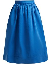 Marni - High Rise Cotton Drill Midi Skirt - Lyst