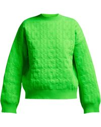 MSGM - Cable Knit Jumper - Lyst