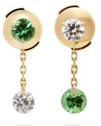 Raphaele Canot - Set Free 18kt Gold, Tsavorite & Diamond Earrings - Lyst