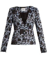 Erdem - May Floral-jacquard Jacket - Lyst