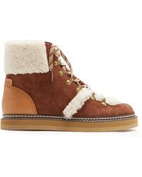 See By Chloé | Brown Lace-up Ski Boots | Lyst