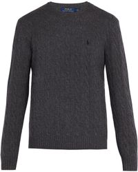Polo Ralph Lauren - Cable Knit Wool And Cashmere Blend Jumper - Lyst