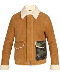 Valentino - Camouflage-pocket Shearling Coat - Lyst